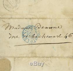 George Sand Lettre autographe signée Invitation à la première de Cosima