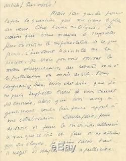 Georges BERNANOS Lettre autographe signée