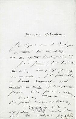 Georges BIZET Lettre autographe signée Opéra La Jolie Fille de Perth