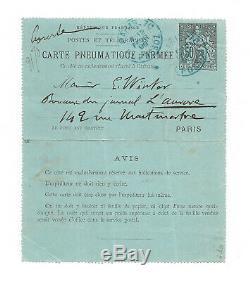 Georges CLEMENCEAU / Lettre autographe signée / Affaire Dreyfus / Procès Zola
