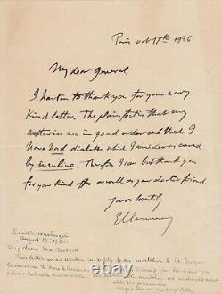 Georges CLEMENCEAU Rare lettre autographe signée en anglais