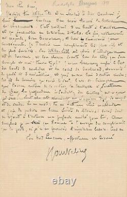 Georges COURTELINE Rodolphe DARZENS belle lettre autographe signée Ukko'Till