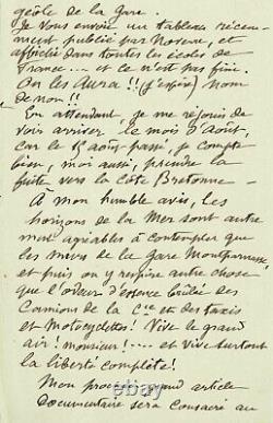 Georges MÉLIÈS Lettre autographe signée à A. Drioux. Le Cinéma de Méliès. 1929