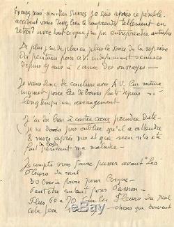 Georges ROUAULT Lettre autographe signée illustrée d'un dessin original. 1930