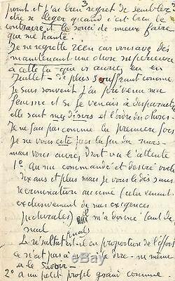 Georges ROUAULT / Longue lettre autographe signée sur les affres de la création