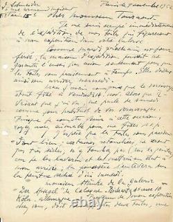 Gérard SCHNEIDER peintre suisse lettre autographe signée Galerie Ex-libris prix