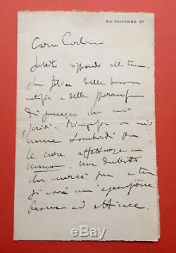 Giacomo PUCCINI Lettre autographe signée à propos de Manon Lescaut