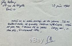 Gilles DELEUZE Lettre manuscrite signée à MICHEL BULTEAU