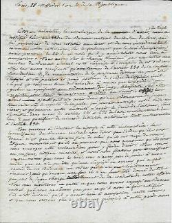 Gracchus BABEUF Lettre autographe signée Révolution française