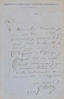 Gustave DORÉ Lettre autographe signée & illustrée RARE