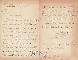Gustave EIFFEL, belle lettre autographe signée à Paul FORT