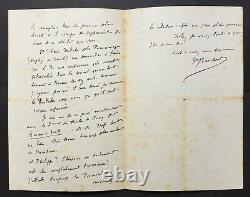 Gustave FLAUBERT Lettre autographe signée à Louis Bouilhet Le cur à droite