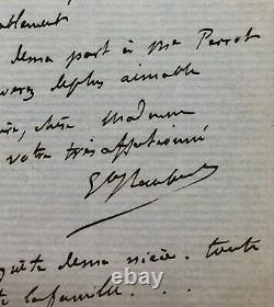 Gustave FLAUBERT Lettre autographe signée à Louise Lepic, chez Raoul-Duval