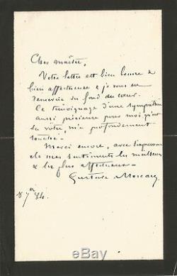 Gustave MOREAU / Lettre autographe signée