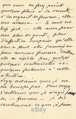 Guy de MAUPASSANT / Lettre autographe signée / 12 pages! Son voyage en Italie