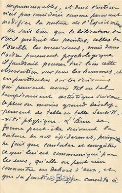 Guy de MAUPASSANT / Lettre autographe signée / La sensibilité et l'âme