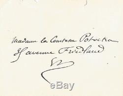 Guy de MAUPASSANT / Lettre autographe signée / je crois que je suis possédé