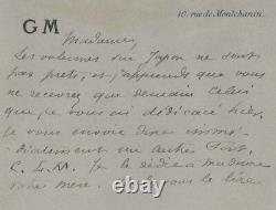 Guy de MAUPASSANT / Lettre autographe signée sur son roman Fort comme la mort