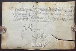 HENRI III Roi de France Document / lettre signée Marc Miron Normandie 1587