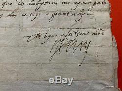 HENRI IV Lettre autographe signée