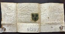 HENRI IV Roi de France Lettre signée avec blason Lettre danoblissement 1593