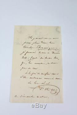 HUGO Lettre autographe inédite signée Urbain Canel ENVOI AUTOGRAPHE 1827