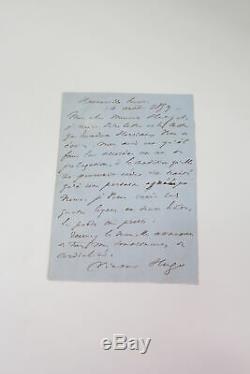 HUGO Lettre autographe signée inédite à Jules Hetzel AUTOGRAPHE 1859