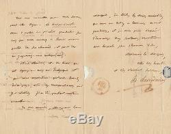 H. D. LACORDAIRE Lettre autographe signée au Marquis de Coriolis dEspinousse