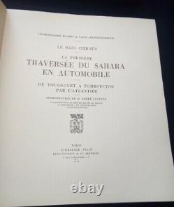 Haardt & Audouin-Dubreuil Raid Citroen Envoi et lettre autographe signée 1924
