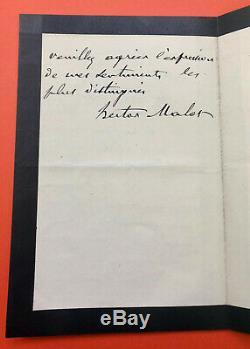 Hector MALOT Lettre autographe signée ZOLA