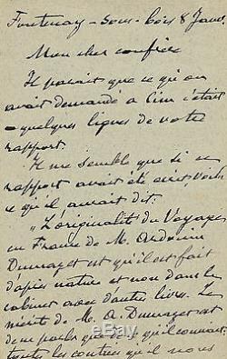 Hector MALOT Lettre autographe signée à un confrère