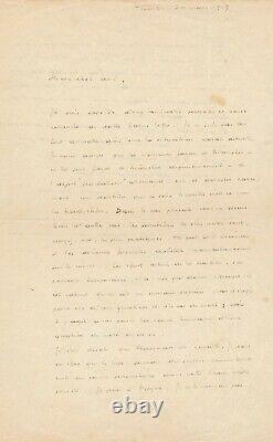 Henri BARBUSSE lettre autographe signée féodalisme Allemagne politique Payot