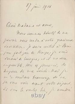 Henri BERGSON Lettre autographe signée