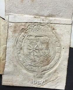 Henri IV Roi de France Document / lettre signée + sceau Signed letter 1603