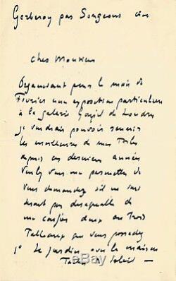 Henri Le SIDANER / Lettre autographe signée / Son exposition à Londres en 1905