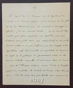 Henri V Comte de Chambord Lettre autographe signée Union et succès Royaliste