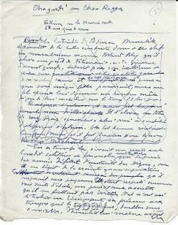 Henry de MONFREID Manuscrit autographe signée avec Lettre autographe signée
