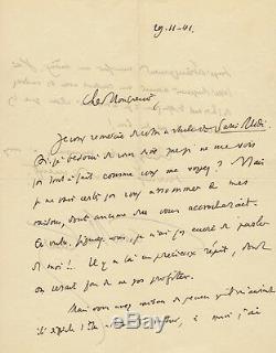 Henry de MONTHERLANT Lettre autographe signée à Maurice Betz 1941