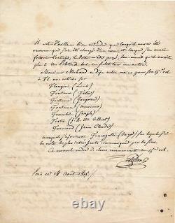 Histoire Religion abbé Guillon lettre autographe signée à Michaud biographie