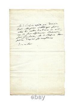 Honoré de BALZAC / Lettre autographe signée / Gambara / La Comédie Humaine 1837