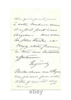 Impératrice EUGENIE / Lettre autographe signée / Exile / Second Empire / Palais