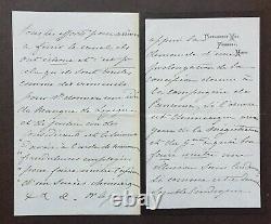 Impératrice EUGÉNIE Lettre autographe signée Lesseps / scandale Panama 8 p