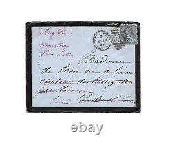 Impératrice EUGENIE de Montijo / Lettre autographe signée / Exil / Second Empire