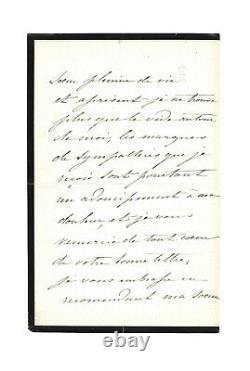 Impératrice EUGENIE de Montijo / Lettre autographe signée / Photographie / Deuil