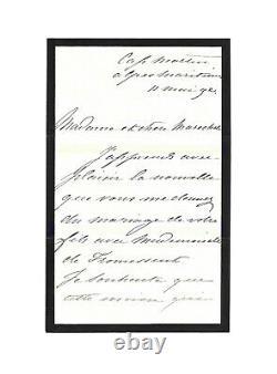 Impératrice EUGENIE de Montijo / Lettre autographe signée / Second Empire / Exil