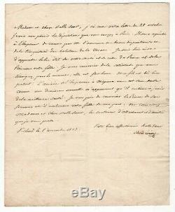 Impératrice Marie Louise / Lettre Signée (1813) / Elisa Bonaparte / Napoleon /