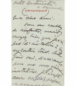 JAMES Henry. Lettre autographe signée