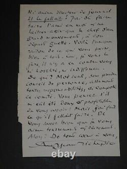 JEAN RICHEPIN TRES BELLE LETTRE AUTOGRAPHE SIGNEE LA BONNE CHANSON + ou 1912