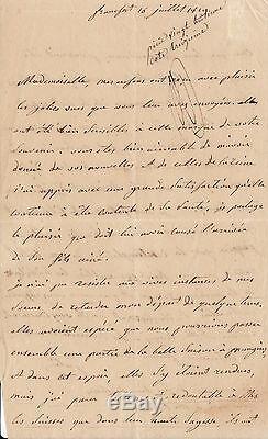 JULIE CLARY (NAPOLEON IER) lettre autographe signée