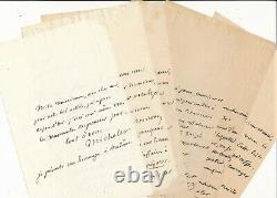 J. MICHELET 6 lettres autographes signées affaire conseil d'Etat